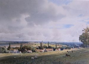J Barrie Haste - Spofforth Village, Nr. Harrogate - Original Watercolour - SOLD
